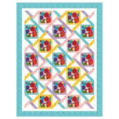 "FREE pattern: ""Calypso Floral Lap Quilt"" (from The Quilter Magazine)"