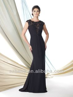 Free shipping CW1628 Fabulous black trumpet mermaid lace sexy mother of the bride dresses-in Mother of the Bride Dresses from Apparel & Acce...