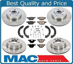 2009 2010 2011 2012 2013 VW Tiguan OE Replacement Rotors Ceramic Pads F