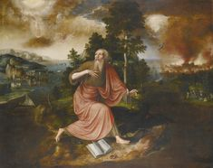 Jan Massys ANTWERP CIRCA 1509 - BEFORE 8 OCTOBER 1575 THE APOCALYPSE OF SAINT JOHN THE EVANGELIST ON THE ISLAND OF PATMOS signed and dated: 1563 oil on oak panel