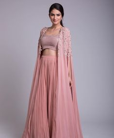 Ridhi Mehra - an exclusive capsule collection featuring fabulous jumpsuits, anarkalis & lehengas apt for exotic destination… Indian Attire, Indian Outfits, Indian Wear, Indian Designer Outfits, Designer Dresses, Lehnga Dress, Anarkali Lehenga, Sharara, Churidar