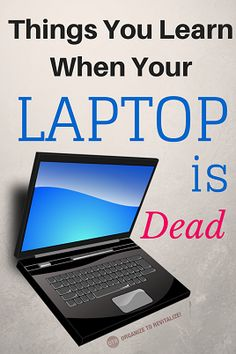What happens when your hard drive crashes during a super busy week at work? There are some very important tech lessons to be learned when your laptop dies. (h/t @janicesimon via Organize to Revitalize! blog)  #technology