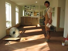 """The Beauty of Earthen Floors - """"An earthen floor offers a wonderful flooring option. Treated with oil (usually hemp or linseed) and finished with beeswax, earthen floors are durable, easy to live on, and easy to maintain. They complement in-floor heating and passive solar designs and when maintained, can last a lifetime."""""""