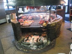 The Salt Lick, Driftwood, TX. Me and the wife's favorite BBQ restaurant. Bbq Grill, Fire Pit Grill, Grilling, Fire Pits, Wood Grill, Fire Cooking, Outdoor Cooking, Brick Bbq, Smoke Grill
