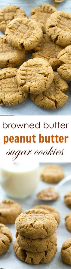 Unbelievably soft and chewy and loaded with a double-delight of browned butter and peanut butter, these addicting sugar-coated cookies will be requested again and again!