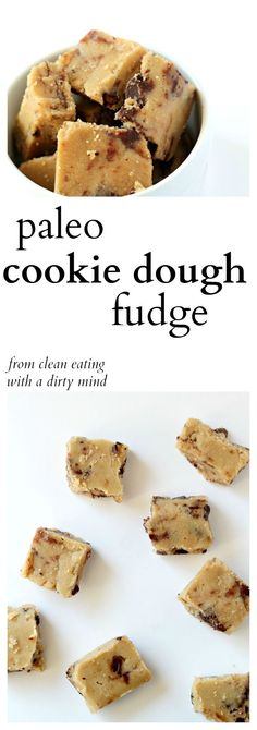 Paleo Cookie Dough Fudge -- finally a cookie dough that is paleo, gluten free, and seriously delicious