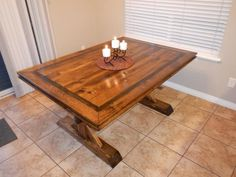 Fancy Farmhouse Double Pedestal Table | Do It Yourself Home Projects from Ana White