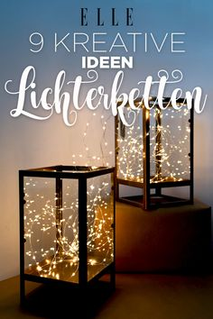 Do not feel like typical Christmas decorations? 9 creative ideas for fairy lights … - Dekoration Decorating With Christmas Lights, Christmas Decorations, Light Chain, Diy Casa, Light Garland, Diy Décoration, Easy Diy, Decoration Table, Fairy Lights