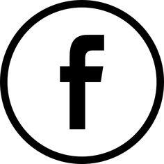 Facebook logo en el botón circular esbozó social símbolo icono gratuito