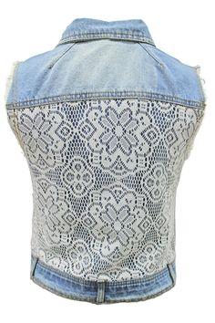 Crochet Back Vest