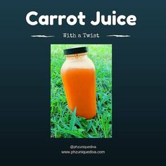 Carrot Juice w/ a Twist >Carrots >Green Apple >Ginger  I like the sweetness of the carrots and the spice of the ginger.  #phzuniquediva #vegan #rawvegan #vegansofig