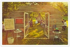 Doors for outdoor weddings. Pointless? Yes..... but still so very adorable.