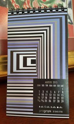 design por katianey : calendário 2015 / uma homenagem a victor vasarely . kátia ney / katianey design gráfico / graphic design