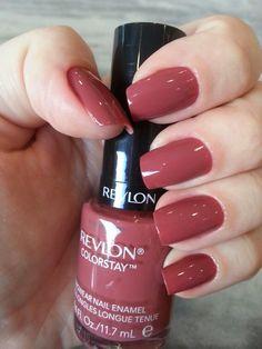 310 Vintage Rose - Revlon, in 2020 Revlon Nail Polish, Nail Polish Brands, Revlon Lipstick, Revlon Gel Envy, Nail Polishes, Stylish Nails, Trendy Nails, Cute Nails, Opi Nail Colors