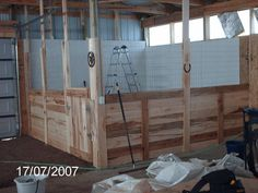 Horse stall in end of new barn/wood shop - by rtb @ LumberJocks.com ~ woodworking community