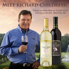 he will be signing our new three label wines at