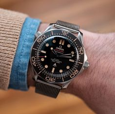 """@hodinkee on Instagram: """"Boom. The new @omega James Bond Watch is here! Live pics and specs on HODINKEE now."""" Relic Watches, Hublot Watches, Timex Watches, G Shock Watches, Omega Bond, Omega James Bond, James Bond Watch, Longines Watch Men, Omega Seamaster Diver"""