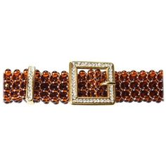Preowned Valentino Lucite Bead And Rhinestone Belt, Circa 1970s ($427) ❤ liked on Polyvore featuring accessories, belts, brown, woven belt, glitter belt, braided belts, rib belt and weave belt #braidedbeltbrown
