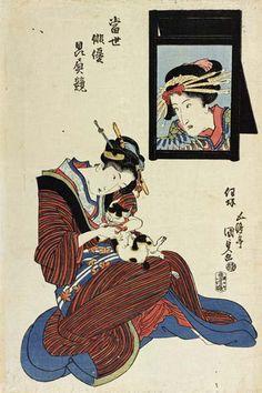 歌川国貞 Japanese Drawings, Japanese Artwork, Japanese Painting, Japanese Prints, Japanese Design, Japanese Geisha, Japan Art, Japanese Culture, Ancient Art