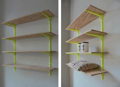 Cool use of color making cheap shelves look cool