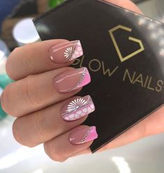 Search for nails at SHEIN. Gold Glitter Nails, Pink Nails, Short Nail Designs, Nail Art Designs, Glow Nails, Spring Nail Art, Accent Nails, Nail Arts, Manicure And Pedicure