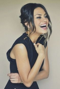 Mila Kunis. She's is so pretty, it's crazy. Her eyes are absolutely the best.
