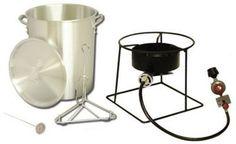 New King Kooker 30 Quart Turkey Fryer Stainless Steel Portable Outdoor Propane #KingKooker