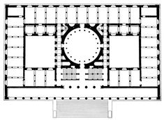 Karl Friedrich Schinkel, Altes Museum, Plan, Berlin Germany, 1830