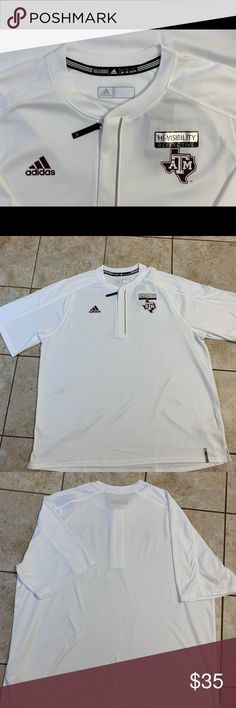 Adidas ATM reflective RARE half zip T-shirt RARE Adidas reflective college ATM half zip t shirt Size white Please check pics for condition Check my other listings for bundle Thanks adidas Shirts Tees - Short Sleeve Adidas Shirt, Adidas Men, Adidas Reflective, Tee Shirts, Tees, Nike Jacket, College, Man Shop, Gym