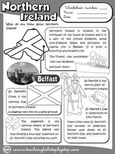 Northern Ireland - Worksheet (B&W version)