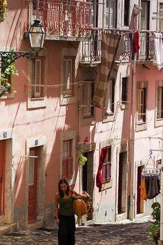 Sunday in Alfama, Lisbon, Portugal ~~ by © Pierre Richer