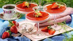 Recept jordgubbspannacotta