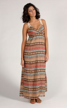 """This """"Lady Dutch"""" summer dress. Very flow-y and light, back is beautifully crocheted."""