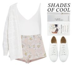 """""""Shades of cool"""" by britney-brit ❤ liked on Polyvore featuring Topshop, Violeta by Mango, H&M, NARS Cosmetics and Lancôme"""
