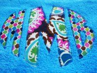 Build Your Own Personalized Beach Towel- hand cut and appliqued circle monogram