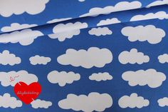 05 m clouds jersey knit cotton elastane royal by seligkeitsding, $11.50