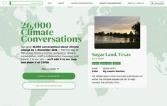 We're collecting 26,000 climate conversations before COP26. Add your voice! About Climate Change, Us Map, My Cousin, Your Voice, Conversation, It Works, No Response, Bubbles, Politics