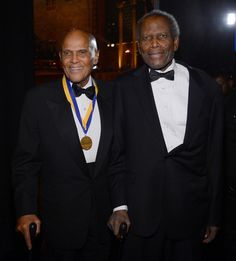 Harry Belafonte, Sidney Poitier, at the NAACP Image Awards, 2013