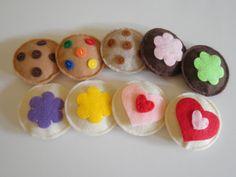 Adorable Assortment Felt Cookies Felt Food by Feltcirclestore