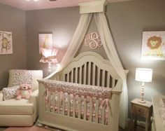 Crib canopy Bed crown Nursery wall crown by ACreativeCottage