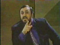"Pavarotti demonstrates ""covered"" sound."