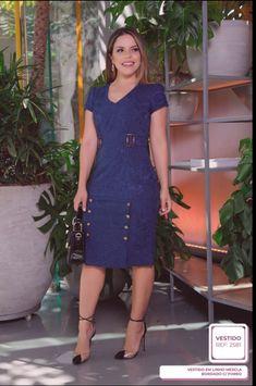 Elegant Dresses, Formal Dresses, Denim Fashion, Womens Fashion, Vestidos Plus Size, The Dress, Frocks, Casual Looks, Dresses Online
