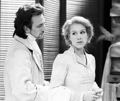 Stunning pic of Alan Rickman and Juliet Stevenson starring in a play Les Liaison Dangeruses