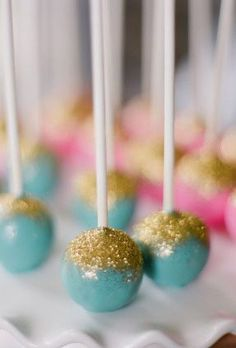 two of our favorite things...cake and glitter...ah, perfection!