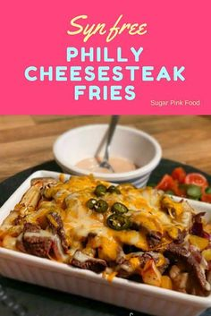 Syn free Philly Cheesesteak Fries Slimming World friendlyYou can find Slimming world recipes and more on our website.Syn free Philly Cheesesteak Fries Slimming World friendly Slimming World Beef Recipes, Slimming World Fakeaway, Slimming World Dinners, Slimming World Breakfast, Slimming World Chicken Recipes, Slimming Eats, Slimming World Lunch Ideas, Slimming World Survival, Slimming World Diet Plan