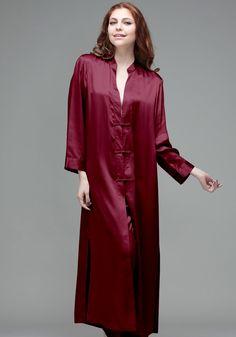 Silk women nightwear robes--Date-Red robes #Silk #robes | Revesilk.com