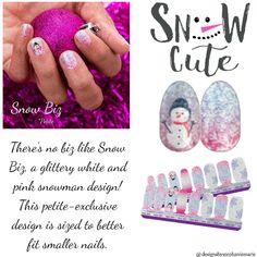 Snow biz - Petite Fail Nails, Get Nails, Holiday Nails, Christmas Nails, Street Game, Nail Polish Strips, Color Street Nails, Nail Bar, Manicure