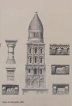 Perigueux, Cathedrale Saint-Front, Dessin de Felix de Verneilh en 1851.jpg (Image JPEG, 551×810 pixels)