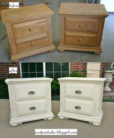I'm leaning toward white furniture with dark handles… Leaving dark stained/painted top… Need mismatched night stands. Maybe paint bookcase dark – Furniture Makeover & Furniture Design Chalk Paint Furniture, White Furniture, Furniture Projects, Rustic Furniture, Diy Furniture, Furniture Stores, Furniture Handles, Painting Furniture White, Contemporary Furniture