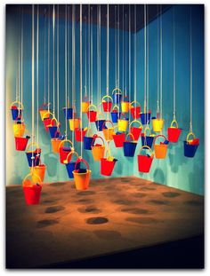 Sand pails & rope Love the lighting (or photo editing maybe)
